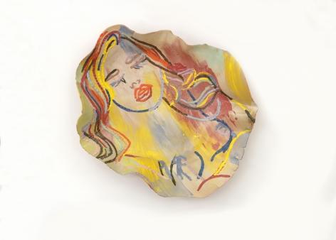 Ghada Amer, The Sleeping Girl, 2014