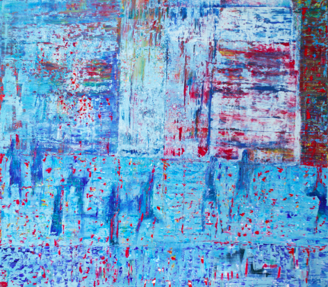 Morning Party,Oil on canvas,178 x 203 cm.