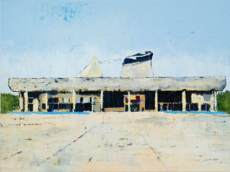 Palace of Assembly Chandigarh, 2017, Oil on canvas