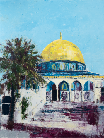 Dome of the Rock, 2017, Oil on canvas