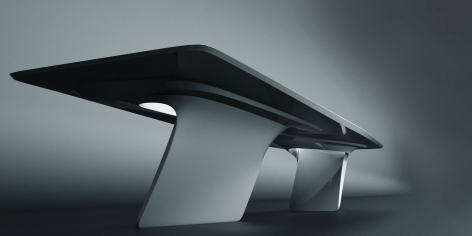 Seoul Desk, 2008, Fiberglass with high gloss lacquer finish