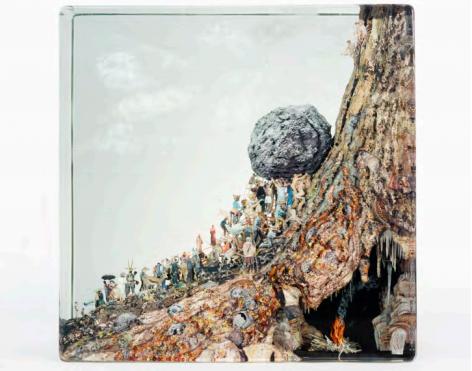 Dustin Yellin Groups Sisyphus, 2017