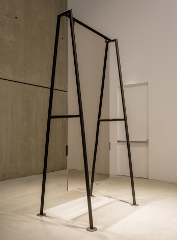 L'altalena, 1976, Mirroring steel, Iron