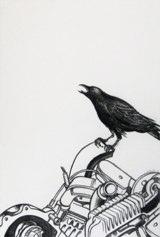 AYAD ALKADHI, Crow on Carcass (In Vitro series), 2013