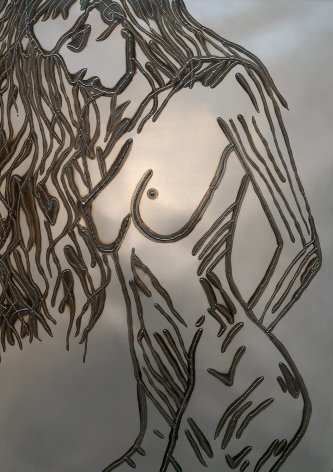Standing Woman Head Down, 2018, Mild steel