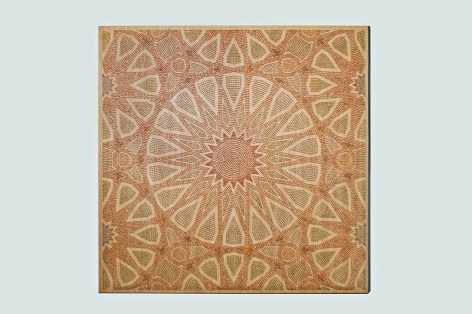 Arabesque II (Lost Heritage), 2013 , 21800 matches on wood and plexiglas