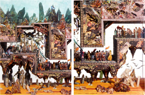 Dustin Yellin, Study for a Tunnel to the Center of the World, 2017
