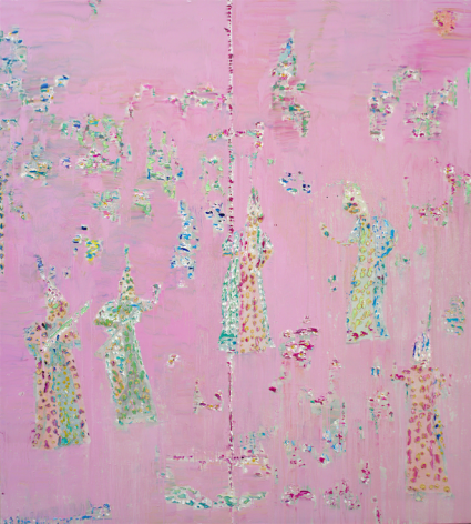 PinkParty,Oil on canvas,180 x 170 cm.