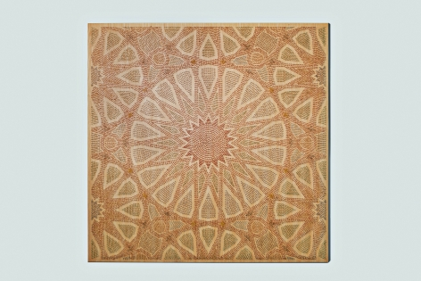 Arabesque II (Lost Heritage), 2013 , 21,800 Matches on Wood and Plexiglas