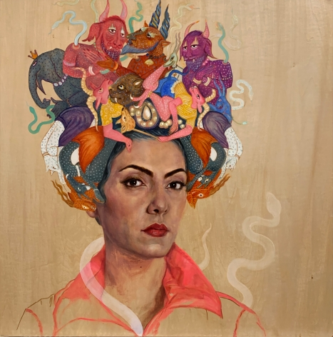 Bahar Sabzevari, Persian Medusa (Crown Series),2020