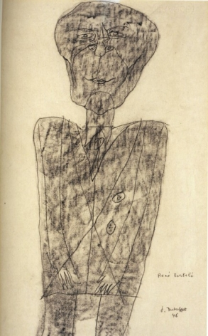 JEAN DUBUFFET, Portrait de Rene Bertele, 1946