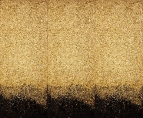 MARCOS GRIGORIAN, Straw Triptych, 1982 - 1988