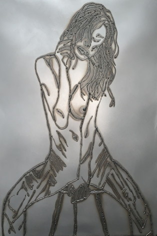 Woman on Stool, 2018, Mild steel