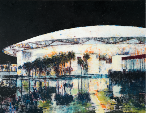 Louvre Abu Dhabi, 2017, Oil on canvas