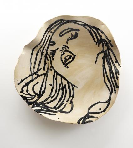 La Dormeuse in Black and White, 2014, Ceramic
