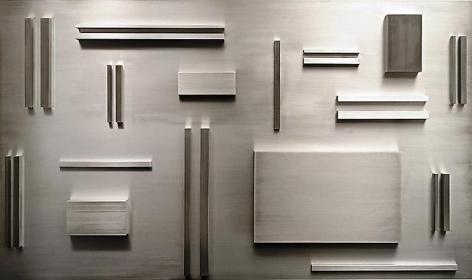 Arthur Carter Aluminum Elements Spaced According to Fibonacci, 2008