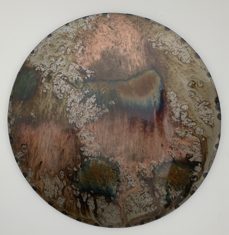 Untitled, 2016, Mixed patina on steel