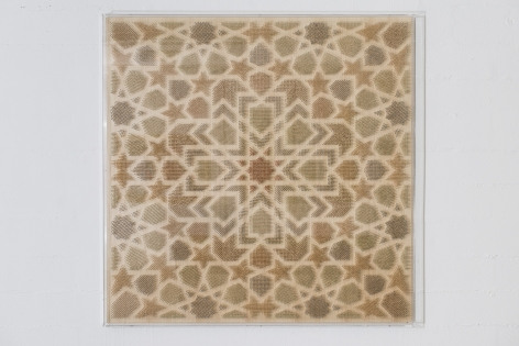 Arabesque I (Lost Heritage), 2013, 21,800 Matches on Wood and Plexiglas