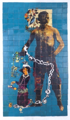 KHOSROW HASSANZADEH, Haft Khan, Gole Morge (The Flower and the Bird), 2012