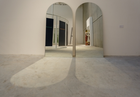 Il tempo del gludizio: Embraico (The Time of Judgement: Judaism), 2009-2011, 2 mirrors