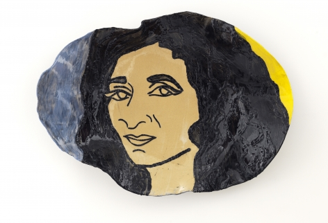 Self Portrait in Blue and Yellow, 2014, Ceramic