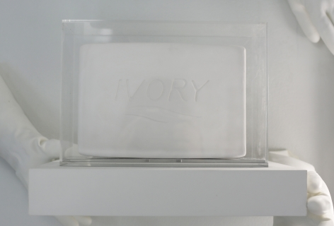 Ivory Soap, 2018, Plaster and ivory soap in Plexiglas box with mirrored