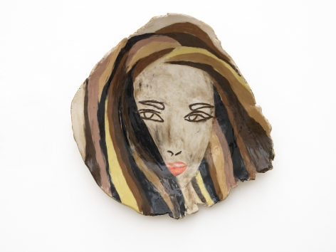 Girl with Pink Lips, 2014, Ceramic