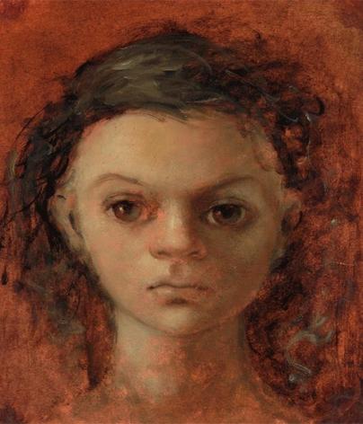 Leonor Fini, Head of a Girl, Late 1940's