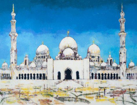 Sheikh Zayed Mosque, 2017, Oil on canvas