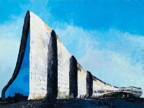 Heydar Aliyev Cultural Center, 2017, Oil on canvas