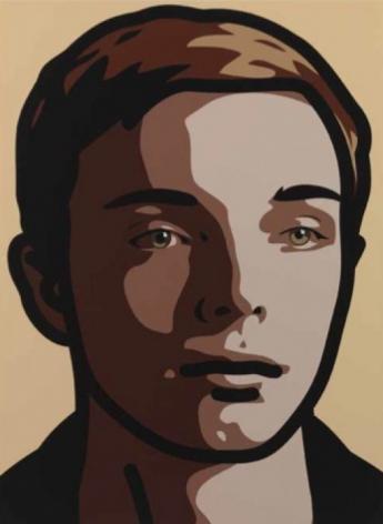 JULIAN OPIE, Finn, eyes left, head left, 2013