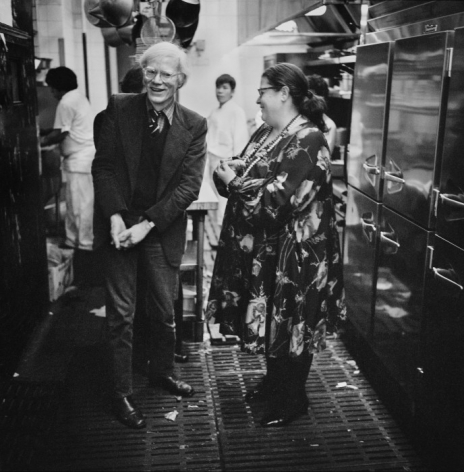 JONATHAN BECKER, Andy Warhol in Elaine's Kitchen, Winter, 1976