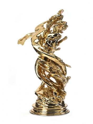 Daphnis & Chloë (Counterclockwise), 2009, Polished bronze