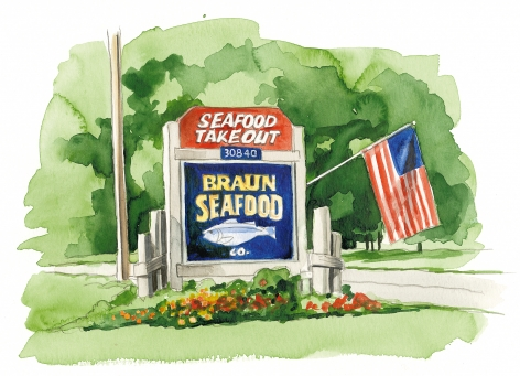 Braun Seafood retail shop in Cutchogue has the freshest fish.