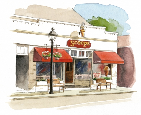 Scoops Ice Cream on Main Road, Cutchogue.