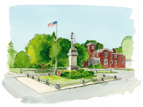 Southold Square's Civil War monument, next to the  Legion Hall, celebrates all 83 town citizens who fought for the Union. Of these, 29 died.