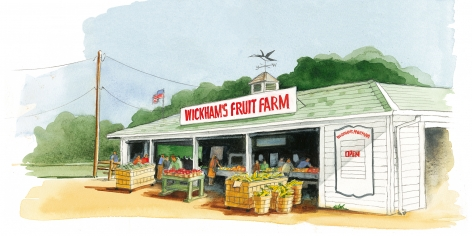 Wickham's Fruit Farm is located on the Main Road in Cutchogue. The produce is grown on some of the oldest, continuously cultivated land in America, dating back to 1661.
