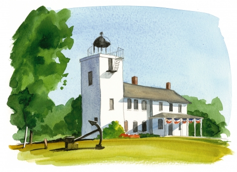 Built in 1857, Horton's Point Lighthouse is now a Nautical Museum.