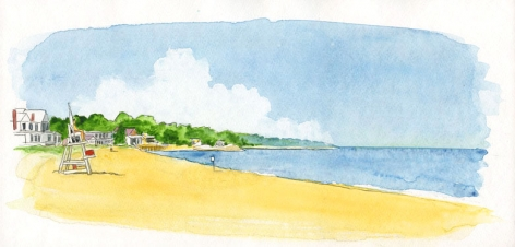 Southold town beach has one of the best views of Connecticut, across the Sound.