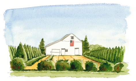 The Half Hollow Nursery's iconic centennial barn upholds a farming heritage on 800 acres in Laurel.