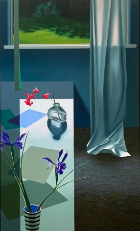 Bruce Cohen Interior with Iris and Sweet Peas, 2020
