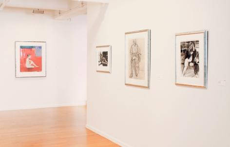 Installation view ofDavid Park, Richard Diebenkorn, Nathan Oliveira, Manuel Neri: Figures and Landscapes, 2014