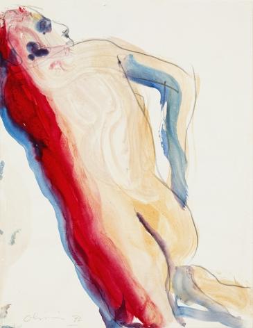 Nathan Oliveira Untitled - Figure Leaning, 1972