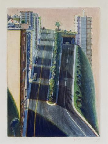 """WayneThiebaud Color Study """"Neighborhood Ridge"""", 1983-84 / 2000"""