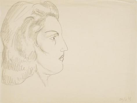 Tête de Profil 1945,