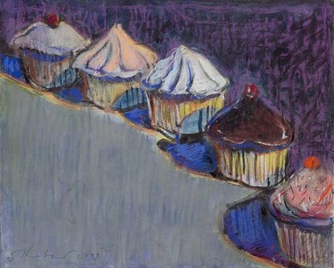 Wayne Thiebaud Untitled (Cupcakes), 1999