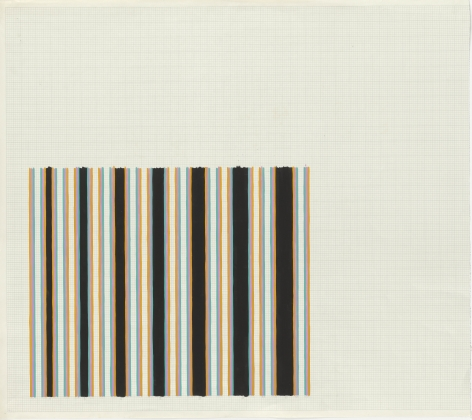 Bridget Riley, Untitled (Related to 'Cantus Firmus' series and 'Halcyon'),1972-73