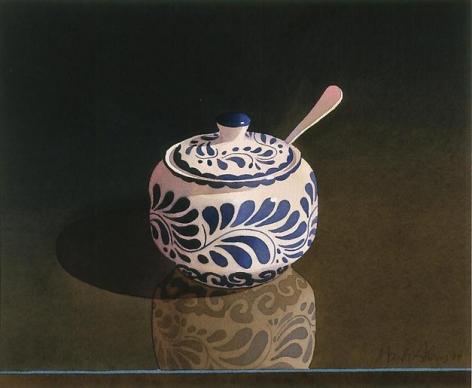 Blue and White Sugar Bowl