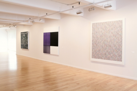 Installation Shot from Patterns of Abstraction , Al Held, Callum Innes, James Hugonin