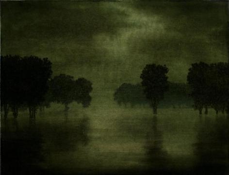 Stephen Hannock Emerald Light, Evening Rain (Mass MoCA #123), 2009